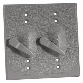 Hubbell 5125-0 Two Gang Weatherproof Device Mount Switch Cover Only - Pkg Qty 8