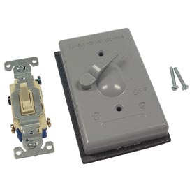 Hubbell 5141-0 Single Gang Weatherproof Switch Cover 3-Way - Pkg Qty 8