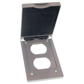 Hubbell 5147-0 Single Gang Vertical Box Mount Cover Duplex - Pkg Qty 24
