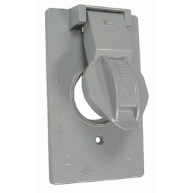 "Hubbell 5155-0 Weatherproof Single Gang Vertical Device Mount Cover 1.406"" Diameter Gray - Pkg Qty 24"