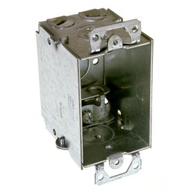 "Hubbell 518 Switch Box 3""X2"", 2-1/2"" Deep, Gangable, Mc/Bx Clamps, W/Plaster Ears - Pkg Qty 50"