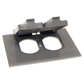 Hubbell 5181-0 Single Gang Horizontal Device Mount Cover Duplex Gray - Pkg Qty 24