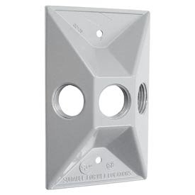Hubbell 5189-1 Weatherproof Cover Rectangular Cluster, Three Hole, White, Shrink - Pkg Qty 20