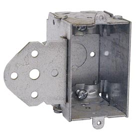 "Hubbell 540 Switch Box 3""X2"", 2-1/2"" Deep, Gangable, Nmsc Clamps, Stud Bracket - Pkg Qty 50"