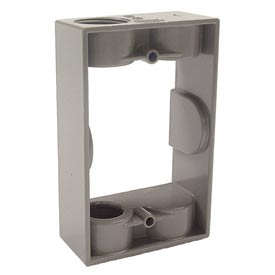 """Hubbell 5403-0 Single Gang Weatherproof Extension Adapter 2-3/4"""" Outlets Gray - Pkg Qty 20"""