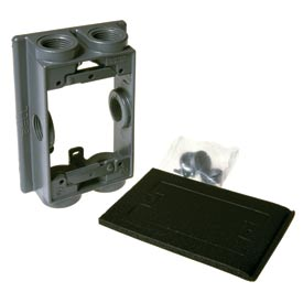 "Hubbell 5414-0 Swing Arm Extension Adapter 6-1/2"" Outlets Gray - Pkg Qty 10"