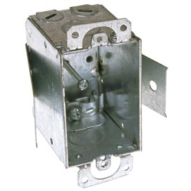 "Hubbell 545 Switch Box 3""X2"", 2-1/2"" Deep, Non-Gangable, Nmsc Clamps, Old Work Clip - Pkg Qty 20"