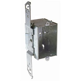 "Hubbell 562 Switch Box 3""X2"", 2-3/4""D, Gangable, 1/2"" End Knockout, Stud Bracket - Pkg Qty 50"