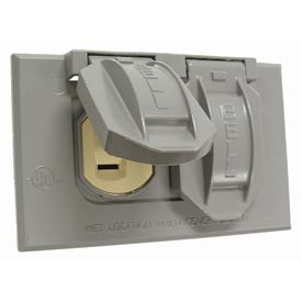 Hubbell 5712-5 Single Gang Weatherproof Cover & Duplex Receptacle - Pkg Qty 6