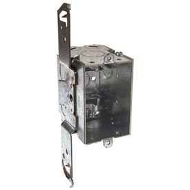 "Hubbell 574 Switch Box 3""X2"", 2-3/4""D, Gangable, Mc/Bx Clamps, Stud Bracket - Pkg Qty 25"