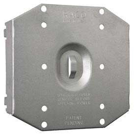Hubbell 702r Protection Plate, To Protect 2 Device Opening On Round Mudring - Pkg Qty 24