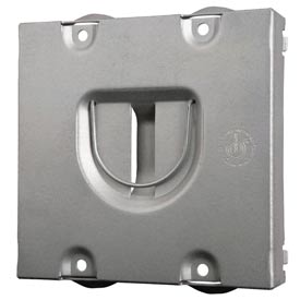 Hubbell 702rd Protection Plate, Raised, To Protect 2 Devices On Mudring - Pkg Qty 24