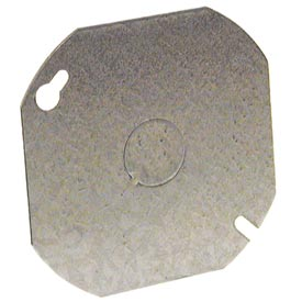 "Hubbell 724 Octagon Cover 4"", 1/2"" Knockout In Center - Pkg Qty 50"