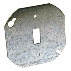 """Hubbell 729 Octagon Cover 4"""", Flat Single Toggle Switch - Pkg Qty 50"""