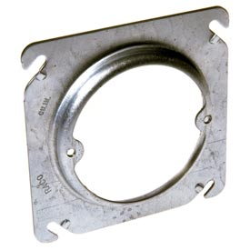 "Hubbell 756 4"" Square Box Fixture Cover, Raised 5/8"", Ears 2-3/4"" O.C. - Pkg Qty 100"
