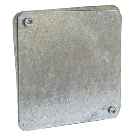 "Hubbell 762 4"" Square Box Gasketed Cover, For 4"" Square Plenum Boxes - Pkg Qty 50"