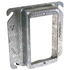 "Hubbell 774 4"" Square Mud-Ring 4"", For 1 Device, Raised 1"" - Pkg Qty 25"
