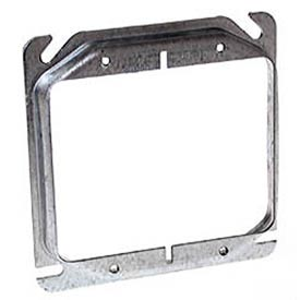 """Hubbell 778 4"""" Square Mud-Ring, For 2 Devices, Raised 1/2"""" - Pkg Qty 50"""