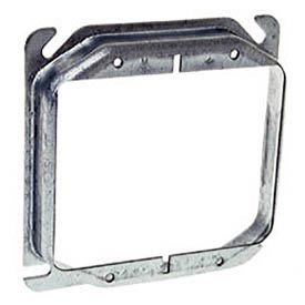 "Hubbell 779 4"" Square Mud-Ring, For 2 Devices, Raised 3/4"" - Pkg Qty 50"
