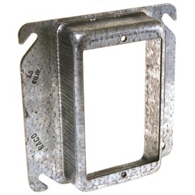 "Hubbell 782 4"" Square Mud-Ring, For 1 Device, Raised 1/2"", For Tile - Pkg Qty 25"