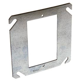 "Hubbell 787 4"" Square Mud-Ring, For 1 Device, Flat - Pkg Qty 50"