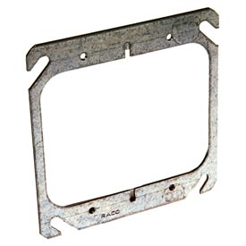 "Hubbell 791 4"" Square Mud-Ring, For 2 Devices, Flat - Pkg Qty 50"