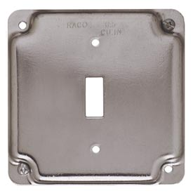 """Hubbell 800c 4"""" Square Exposed Work Cover, 1 Toggle - Pkg Qty 10"""