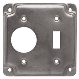 "Hubbell 805c 4"" Square Exposed Work Cover, One Toggle Switch & One 1.406 Diam. Hole - Pkg Qty 10"