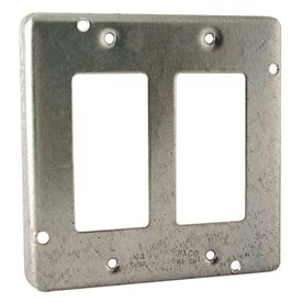 """Hubbell 809 4"""" Square Exposed Work Cover, 2 Gfci - Pkg Qty 10"""
