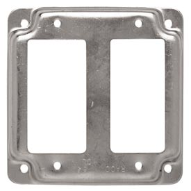 "Hubbell 809c 4"" Square Exposed Work Cover, 2 Gfci - Pkg Qty 10"