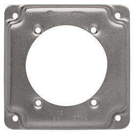 "Hubbell 813c Square Exposed Work Cover 4"", 30a-60a Receptacle 2.625"" Diameter - Pkg Qty 10"