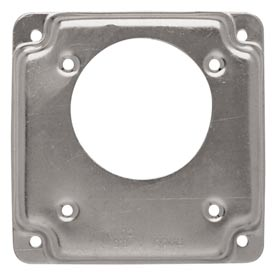 "Hubbell 817c 4"" Square Exposed Work Cover, One Receptacle 2.275 Diam. Hole - Pkg Qty 10"