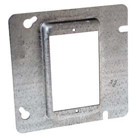 "Hubbell 837 4-11/16"" Square Mud-Ring, For 1 Device, Raised 1/2"" - Pkg Qty 25"