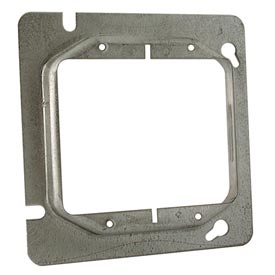 "Hubbell 840 4-11/16"" Square Mud-Ring, For 2 Devices, Raised 3/4"" - Pkg Qty 25"