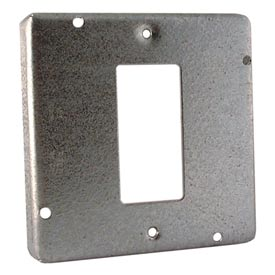 "Hubbell 856 4-11/16"" Square Exposed Work Cover, 1 Gfci - Pkg Qty 10"