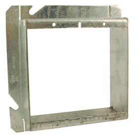 "Hubbell 885 4-11/16"" Square Mud-Ring, For 2 Devices, Raised 1-1/2"" - Pkg Qty 20"