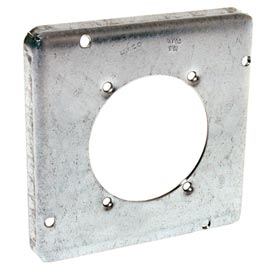 "Hubbell 888 4-11/16"" Square Exposed Work Cover, 30-60a Receptacle 2.625"" Diameter - Pkg Qty 10"