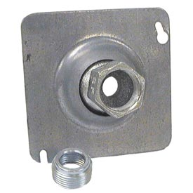 "Hubbell 896 4"" Square Box Fixture Cover, Swivel Fixture Hanger - Pkg Qty 25"