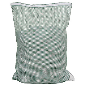 Mesh Bag W/ Nylon Zipper Closure, Green, 24x36, Heavy Weight - Pkg Qty 12