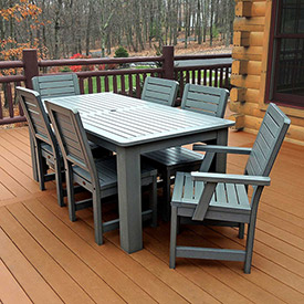 Outdoor furniture equipment patio furniture sets Synthetic wood patio furniture