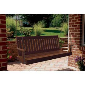 highwood® Lehigh 5' Wide Outdoor Porch Swing - Weathered Acorn