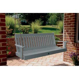 highwood® Lehigh 5' Wide Outdoor Porch Swing - Coastal Teak