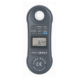 Reed Instruments LM-81LX-NIST Light Meter, 20,000 Lux by