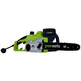 "GreenWorks 20332 16"" Corded Chainsaw, 14.5 AMP by"