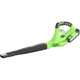 GreenWorks 24252 G-MAX Variable Speed Cordless Blower, 40V, 150 MPH w/ 2aH Battery & Charger by