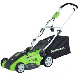 "GreenWorks™ 16"" 10A Corded 2-in-1 Lawn Mower, W/ 5 Cutting Heights"