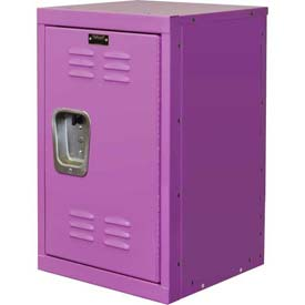 "Hallowell HKL1515(24)-1BG Kid Mini Locker, 15""W x 15""D x 24""H, Bubble Gum Pink"