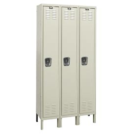 Hallowell U3228-1G-A-PT Assembled Corrosion Resistant Locker Single Tier 3 Wide - 12x12x78