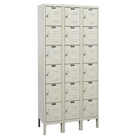 Hallowell U3228-6G-PT Knock-Down Corrosion Resistant Locker Six Tier 3 Wide - 12x12x13
