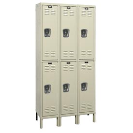 Hallowell U3288-2G-PT Knock-Down Corrosion Resistant Locker Double Tier 3 Wide - 12x18x39